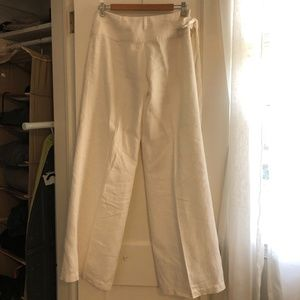 Moda International White Linen Pants